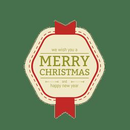 Cinta de la insignia de navidad