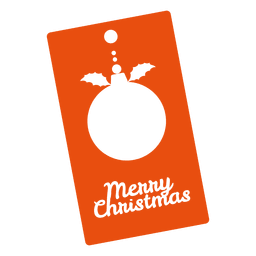 Christmas bauble orange tag
