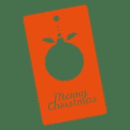 Tag laranja de bugiganga de Natal