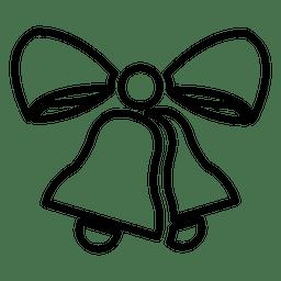 Ícone de linha de sinos de Natal
