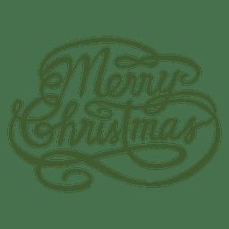 Callygraphy-Label für Weihnachten