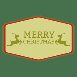 Weihnachts-Rechteck-Label