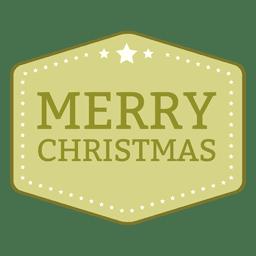 Sello rectangular de navidad
