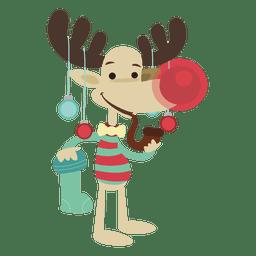 Desenhos animados de rena de Natal