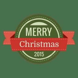 Christmas round seal