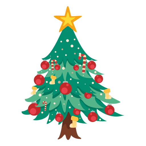 Icono de arbol de navidad Transparent PNG