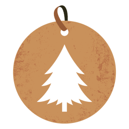 Christmas tree round tag