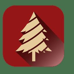 Ícone quadrado da árvore de Natal