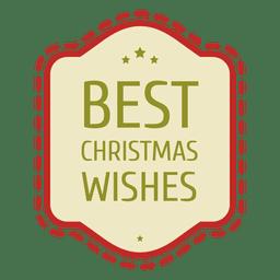 Sello de deseos navideños