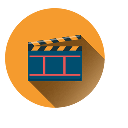 Clapperboard circle icon