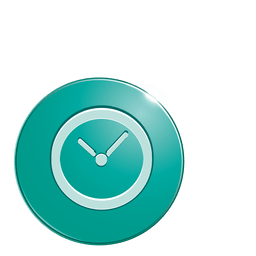 Clock bubble icon