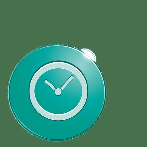 Clock bubble icon Transparent PNG