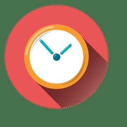 ícone redondo relógio