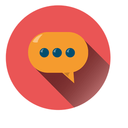 Cloud chat circle icon