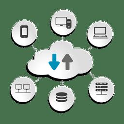 Conceito de dispositivos de computação em nuvem
