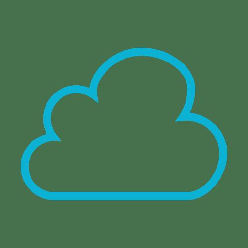 Blaue Wolke Wetter-Symbol Transparent PNG