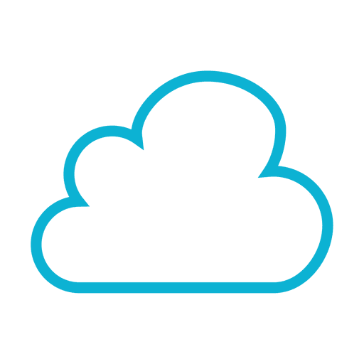 Blue Cloud Weather Icon - Transparent PNG & SVG vector