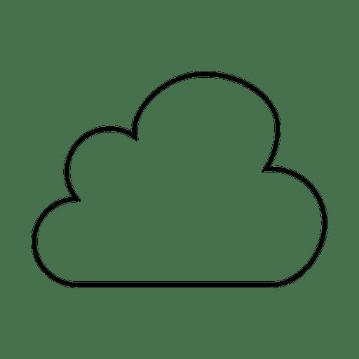 Icono de archivos de la nube de trazo Transparent PNG