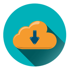 Ícone de círculo de armazenamento em nuvem