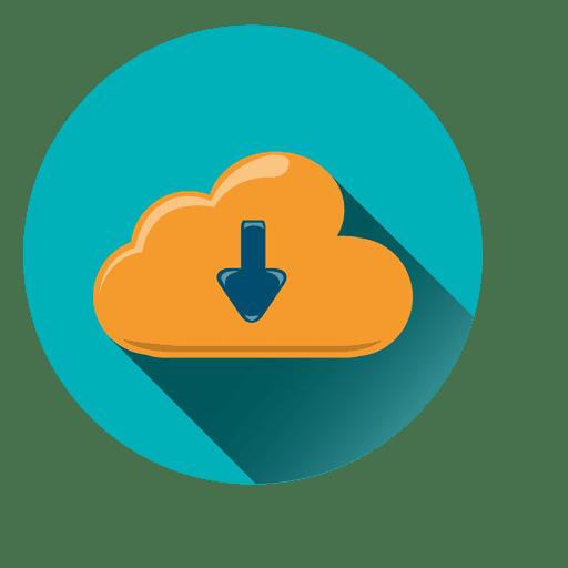 Ícone de círculo de armazenamento de nuvem Transparent PNG