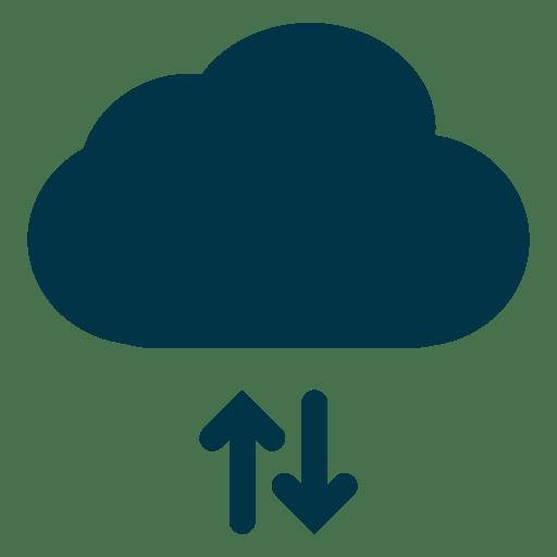 Armazenamento em nuvem e ícone de download Transparent PNG