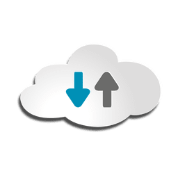 Ícone de armazenamento em nuvem