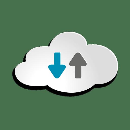 Ícone de armazenamento em nuvem Transparent PNG