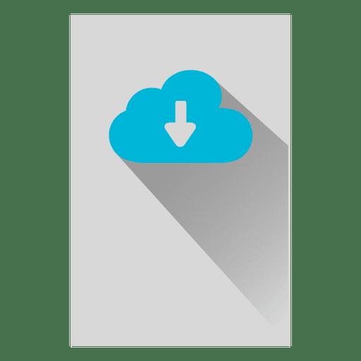Ícone quadrado de armazenamento em nuvem