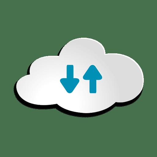 Autocolante de armazenamento em nuvem Transparent PNG