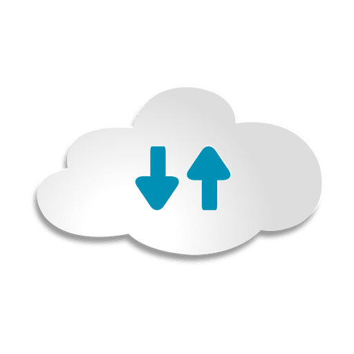 Cloud storage sticker Transparent PNG