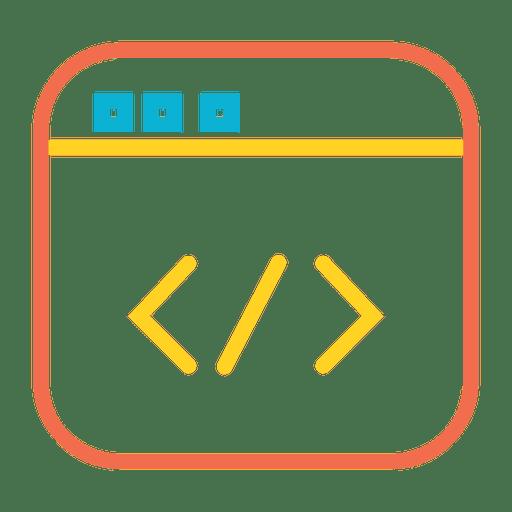 Código web colorido icono Transparent PNG