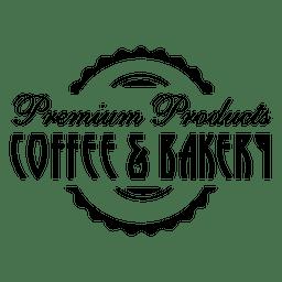 Emblema de café e padaria