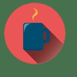 Café icono del círculo taza