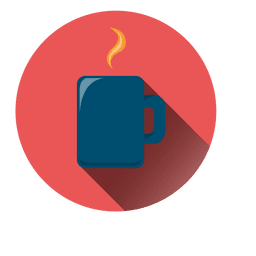 Coffee mug circle icon