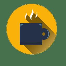 Runde Kaffeetasse-Symbol