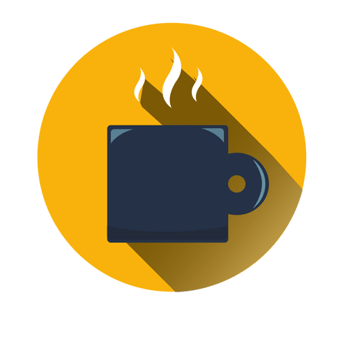 Coffee mug round icon Transparent PNG