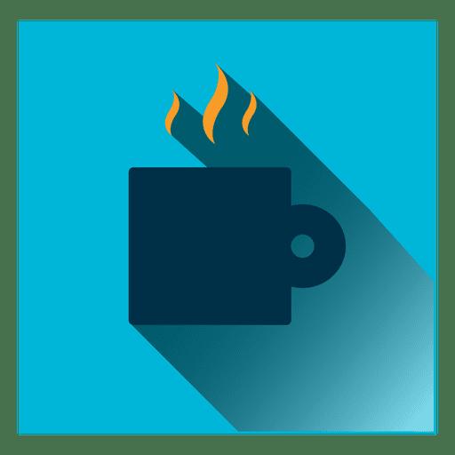 Coffee mug square icon