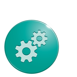 Cogwheels bubble icon