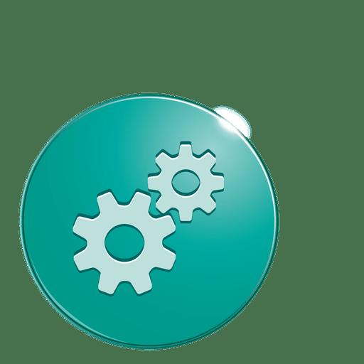 Cogwheels bubble icon