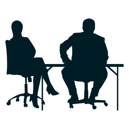 Colleagues working on desk Transparent PNG