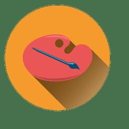 Icono de círculo de paleta de colores
