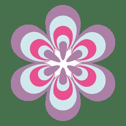 Colorido icono de flor