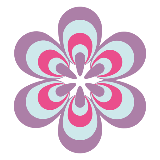Colorful flower icon Transparent PNG