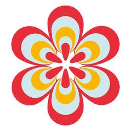 Colorful flower icon 1