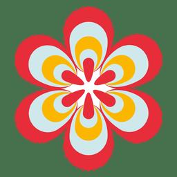 Icono de flor de colores 1