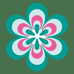 Ícone de flor colorida 2