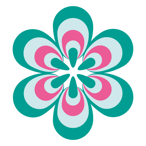 Colorful flower icon 2 Transparent PNG