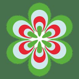 Icono de flor colorida 3