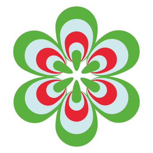 Colorful flower icon 3 Transparent PNG