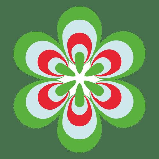 Icono de flores de colores 3